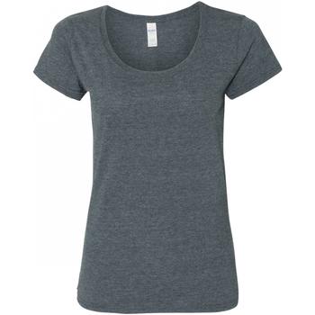 Textiel Dames T-shirts korte mouwen Gildan 64550L Donkere Heide