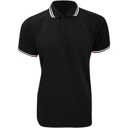 Textiel Heren Polo's korte mouwen Kustom Kit KK409 Zwart/Wit