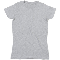 Textiel Dames T-shirts korte mouwen Mantis M69 Heide Grijs Melange