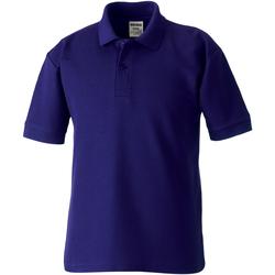Textiel Jongens Polo's korte mouwen Jerzees Schoolgear 539B Paars