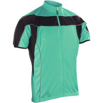 Textiel Heren Fleece Spiro S188M Aqua / Zwart