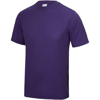 Textiel Kinderen T-shirts korte mouwen Awdis JC01J Paars