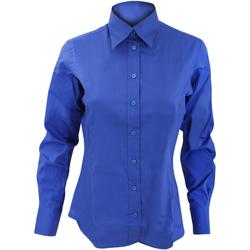 Textiel Dames Overhemden Kustom Kit KK702 Koningsblauw