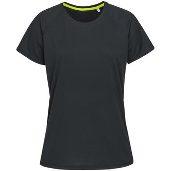 Textiel Dames T-shirts korte mouwen Stedman  Zwart Opaal