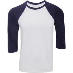 Textiel Heren T-shirts met lange mouwen Bella + Canvas CA3200 Wit/Zwaar