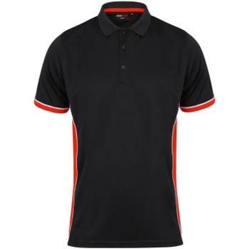 Textiel Heren Polo's korte mouwen Finden & Hales TopCool Zwart/Rood/Wit