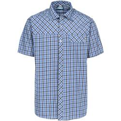 Textiel Heren Overhemden korte mouwen Trespass Juba Blauwe ruit