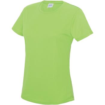 Textiel Dames T-shirts korte mouwen Awdis JC005 Elektrisch Groen