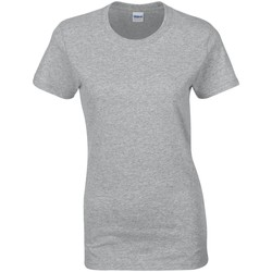 Textiel Dames T-shirts korte mouwen Gildan Missy Fit Sport Grijs