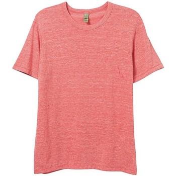 Textiel Heren T-shirts korte mouwen Alternative Apparel AT001 Eco Rood