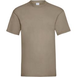 Textiel Heren T-shirts korte mouwen Universal Textiles 61036 Zand