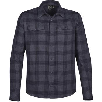 Textiel Heren Overhemden lange mouwen Stormtech Logan Navy Plaid