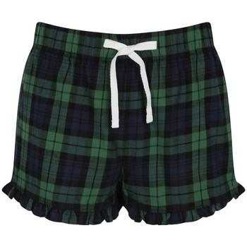 Textiel Dames Korte broeken / Bermuda's Skinni Fit SK082 Navy/Groene controle