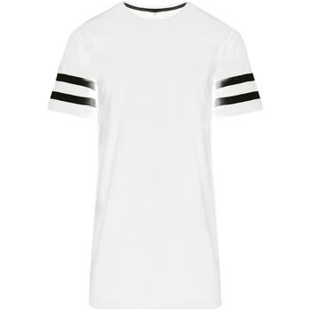 Textiel Heren T-shirts korte mouwen Build Your Brand BY032 Wit/zwart
