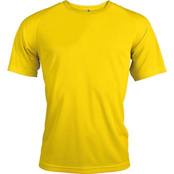 Textiel Heren T-shirts korte mouwen Kariban Proact PA438 Echt geel