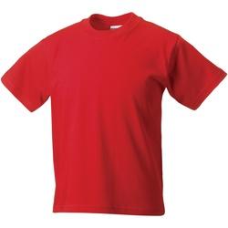 Textiel Kinderen T-shirts korte mouwen Jerzees Schoolgear ZT180B Helder rood