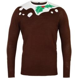 Textiel Heren Truien Christmas Shop CS155 Bruin/Wit