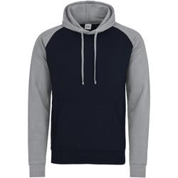 Textiel Heren Sweaters / Sweatshirts Awdis JH009 Marine Oxford / Heather Grey