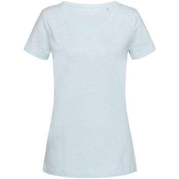 Textiel Dames T-shirts korte mouwen Stedman Stars Sharon Baby-Blauw