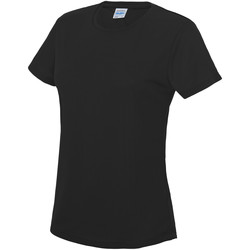 Textiel Dames T-shirts korte mouwen Awdis JC005 Jet Zwart