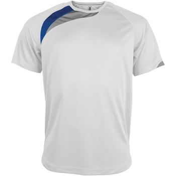 Textiel Heren T-shirts korte mouwen Kariban Proact PA436 Wit/Koninklijk/Stormgrijs