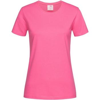 Textiel Dames T-shirts korte mouwen Stedman  Roze