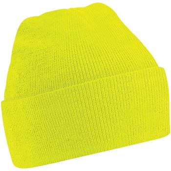Accessoires Kinderen Muts Beechfield B45B Fluorescerend Geel