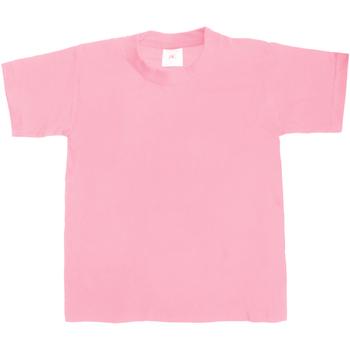 Textiel Kinderen T-shirts korte mouwen B And C Exact 190 Roze Zestiger jaren
