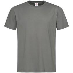 Textiel Heren T-shirts korte mouwen Stedman  Donkergrijs