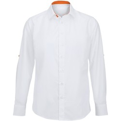 Textiel Heren Overhemden lange mouwen Alexandra Hospitality Wit/oranje