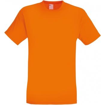 Textiel Heren T-shirts korte mouwen Universal Textiles 61082 Helder oranje