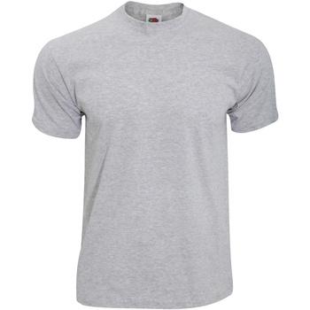 Textiel Heren T-shirts korte mouwen Fruit Of The Loom 61082 Heather Grijs