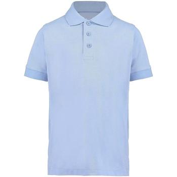 Textiel Jongens Polo's korte mouwen Kustom Kit KK406 Lichtblauw