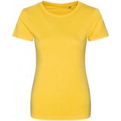 Textiel Dames T-shirts korte mouwen Ecologie EA01F Zonnegeel
