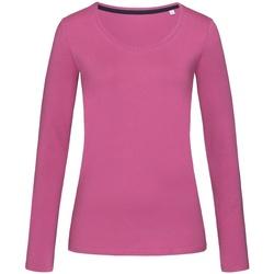 Textiel Dames T-shirts met lange mouwen Stedman Stars  Cupcake Roze