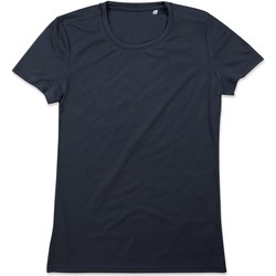 Textiel Dames T-shirts korte mouwen Stedman  Blauwe Middernacht
