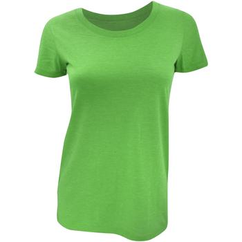 Textiel Dames T-shirts korte mouwen Bella + Canvas BE8413 Groen Triblend