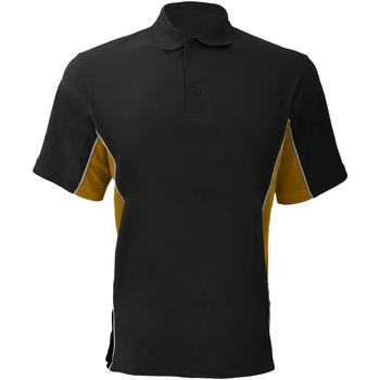 Textiel Heren Polo's korte mouwen Gamegear KK475 Zwart/Goud/Wit