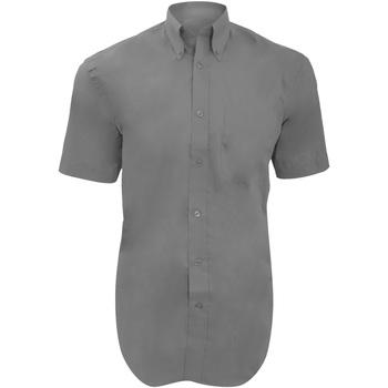 Textiel Heren Overhemden korte mouwen Kustom Kit KK109 Zilvergrijs