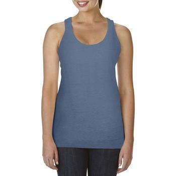 Textiel Dames Mouwloze tops Comfort Colors Racerback Blauwe Jean