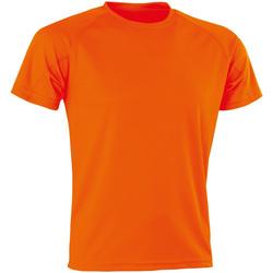 Textiel Heren T-shirts korte mouwen Spiro Aircool Flo Oranje