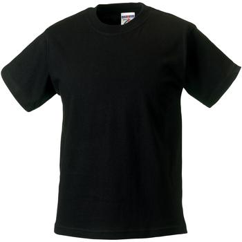 Textiel Kinderen T-shirts korte mouwen Jerzees Schoolgear ZT180B Zwart