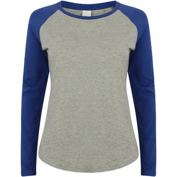Textiel Kinderen T-shirts met lange mouwen Skinni Fit SM271 Heide Grijs / Koninklijk