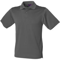 Textiel Heren Polo's korte mouwen Henbury HB475 Houtskool Grijs