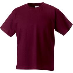 Textiel Kinderen T-shirts korte mouwen Jerzees Schoolgear ZT180B Bourgondië