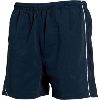 Textiel Heren Korte broeken / Bermuda's Tombo Teamsport TL081 Navy/Navy/ White Piping