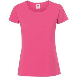 Textiel Dames T-shirts korte mouwen Fruit Of The Loom SS424 Fuchsia