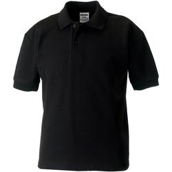 Textiel Jongens Polo's korte mouwen Jerzees Schoolgear 539B Zwart