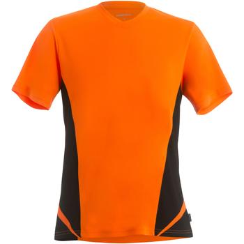 Textiel Heren T-shirts korte mouwen Gamegear KK969 Fluorescerend Oranje/Zwart