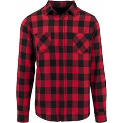 Textiel Heren Overhemden lange mouwen Build Your Brand BY031 Zwart/Rood